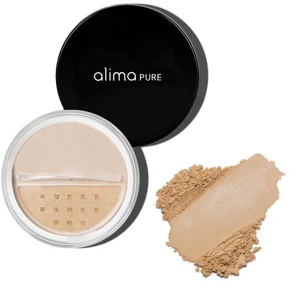 Satenast zaključni puder (5g), odtenek Ami. Alima Pure, naravna kozmetika.