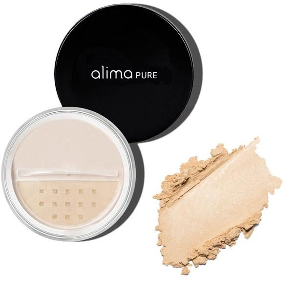 Satenast zaključni puder (5g), odtenek Hanae. Alima Pure, naravna kozmetika.