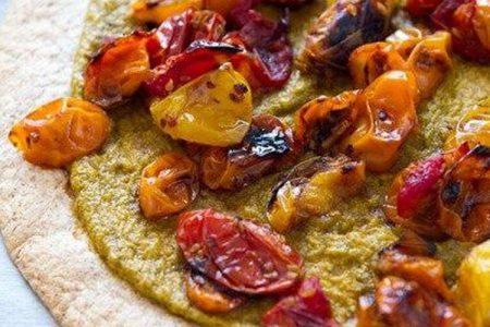Tortilije s konopljinim namazom in zelenjavo