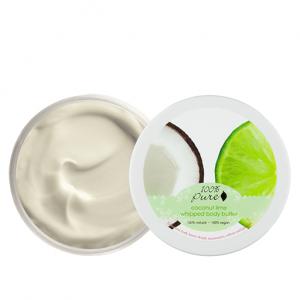 Puhastno maslo za telo, kokos limeta (96g). 100% Pure, naravna kozmetika.