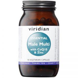 Esencialni moški vitamini s cinkom in CoQ10 (90 kapsul). Viridian Nutrition.