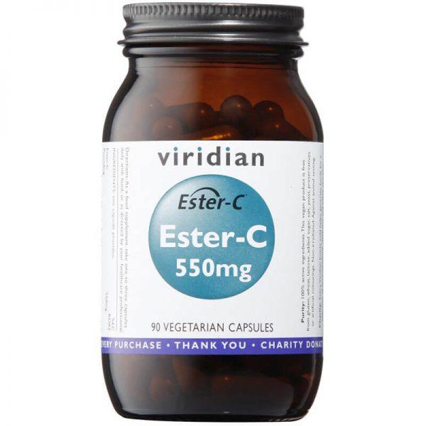 Ester- C, 550mg (90 kapsul). Viridian Nutrition.