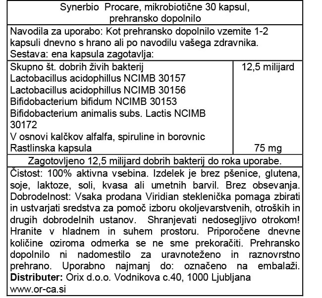 synerbio-procare-mikrobioticne-30-kapsul-orca-prehransko-dopolnilo