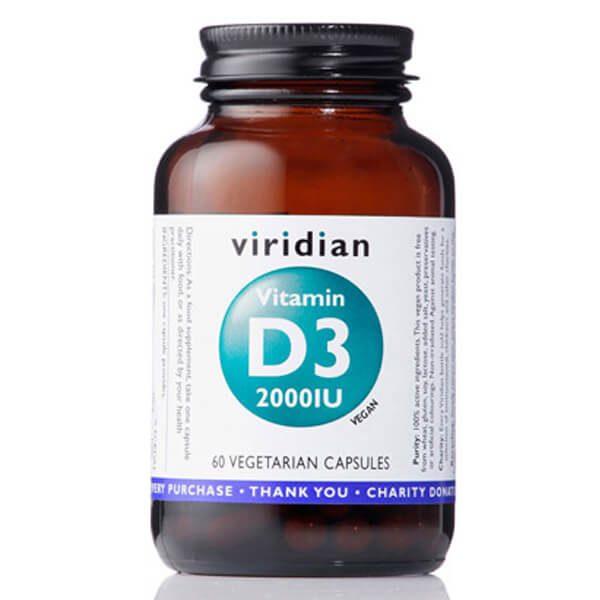 Vitamin D3 (60 kapsul). Viridian Nutrition, naravni prehranski dodatki.