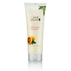Vlažilni gel za prhanje rdeča pomaranča (236 ml). 100% Pure, naravna kozmetika.