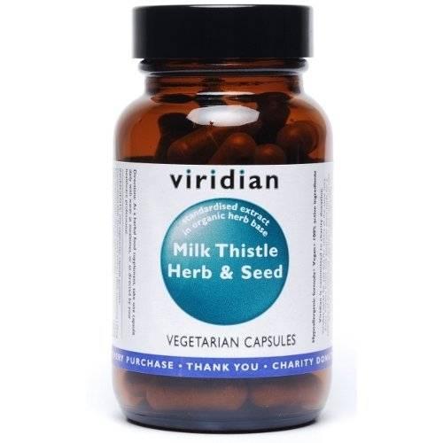 Standardiziran pegasti badelj (30 kapsul). Viridian Nutrition, naravni prehranski dodatki.