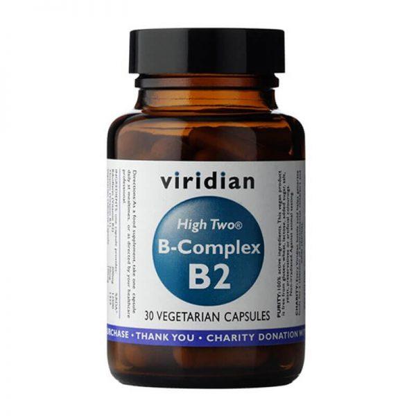B-kompleks + B2 (30 kapsul) Viridian Nutrition