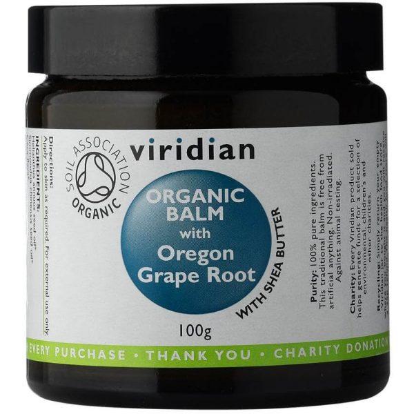 Ekološki balm z mahonijo (100 g). Viridian Nutrition, ekološka terapevtska nega.