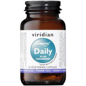 Simbiotična mešanica probiotikov z brusnicami (30 kapsul). Viridian Nutrition, naravni prehranski dodatki.
