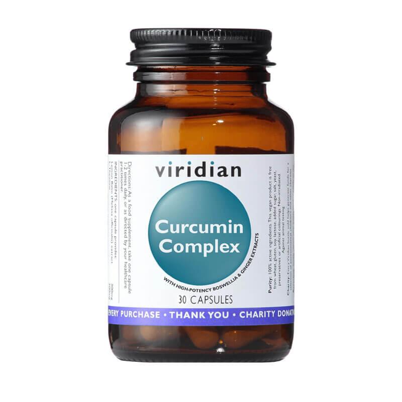 Aktiven Kurkumin kompleks (30 kapsul) Viridian Nutrition