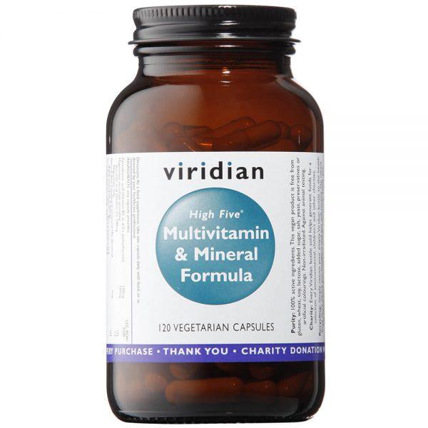 Multivitamini in minerali z B5 (60 kapsul). Viridian Nutrition