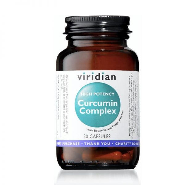 Ekološki kurkumin izvleček (30 kapsul). Viridian Nutrition