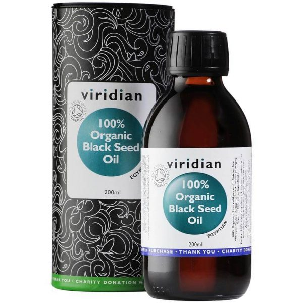 Ekološko olje črne kumine, 200 ml. Viridian Nutrition, naravni prehranski dodatki.