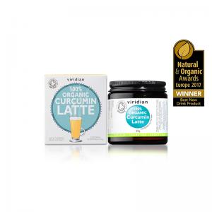 Ekološki kurkumin latte, 30 g. Viridian Nutrition, naravni prehranski dodatki.
