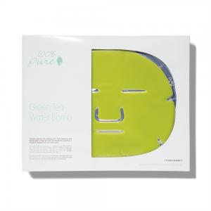 Obrazna maska z zelenim čajem, za intenzivno vlaženje kože (5 kosov). 100% Pure, naravna kozmetika.