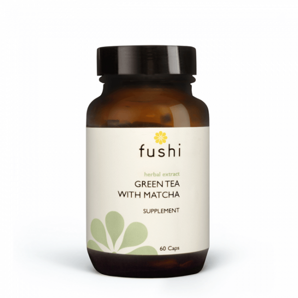 Zeliščni izvleček zelenega čaja z matcho, 60 kapsul. Fushi.