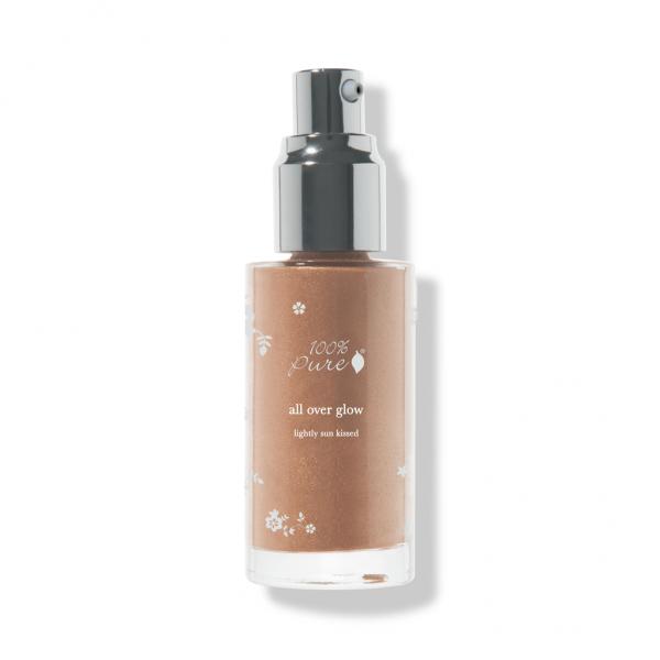 Tekoči bronzer losijon za celo telo - odtenek Lightly Sun Kissed (40 ml). 100% Pure, naravna kozmetika.