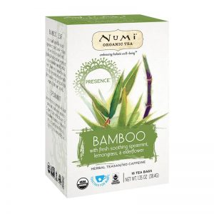 Ekološki čaj bamboo Presence, 16 čajnih vrečk (40 g). Numi, ekološki čaji.
