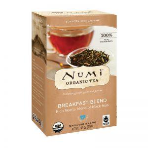 Ekološki črni čaj jutranja mešanica, 18 čajnih vrečk (2,2 g). Numi, ekološki čaji.