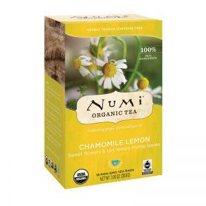 Ekološki čaj kamilica in limonina mirta, 18 čajnih vrečk (1,7 g). Numi, ekološki čaji.