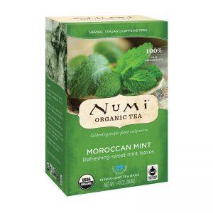 Ekološki čaj maroška meta, 18 čajnih vrečk (2,2 g). Numi, ekološki čaji.