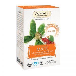 Ekološki čaj mate Purpose, 16 čajnih vrečk (40 g). Numi, ekološki čaji.