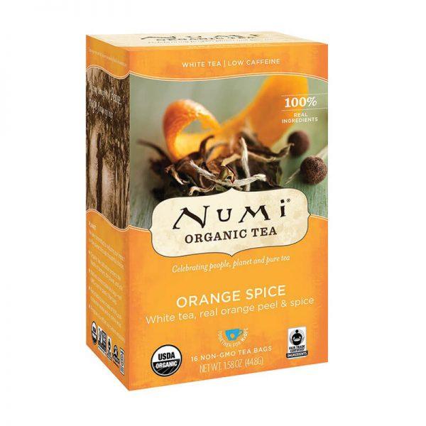 Ekološki beli čaj pomaranča in začimbe, 16 čajnih vrečk (2,8 g). Numi, ekološki čaji.