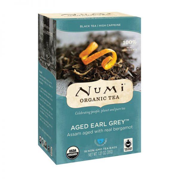 Ekološki čaj starani earl grey, 18 čajnih vrečk (2 g). Numi, ekološki čaji.