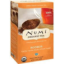 Ekološki čaj rooibos, 18 čajnih vrečk (2,4 g). Numi, ekološki čaji.