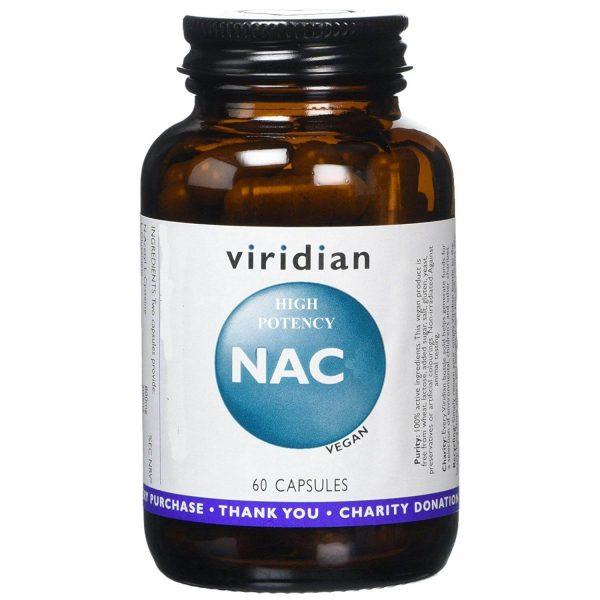 Visoko potenciran NAC, 60 kapsul. Viridian Nutrition.