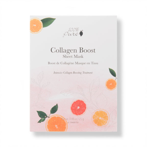 Sheet maska za spodbujanje nastanka kolagena, 5 kos. 100% Pure, naravna kozmetika.
