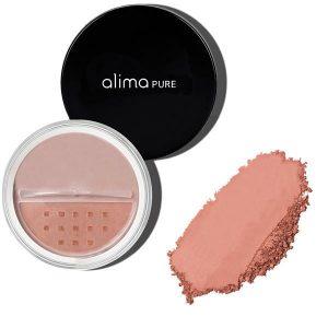 Mineralno rdečilo za lička Honey Rose (4,5 g). Alima Pure, naravna kozmetika.
