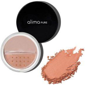 Mineralno rdečilo za lička Melon (4,5 g). Alima Pure, naravna kozmetika.