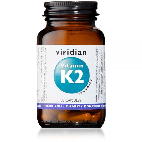 Vitamin K2, 30 kapsul. Viridian Nutrition, naravna prehranska dopolnila.