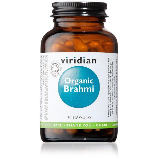 Ekološki brahmi, 60 kapsul. Naravni prehranski dodatki Viridian Nutrition.