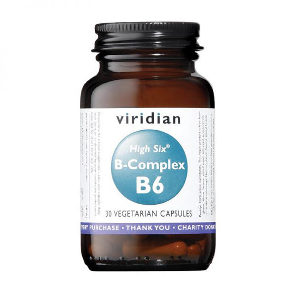 B kompleks in vitamin B6, 30 kapsul. Viridian Nutrition, naravni prehranski dodatki.