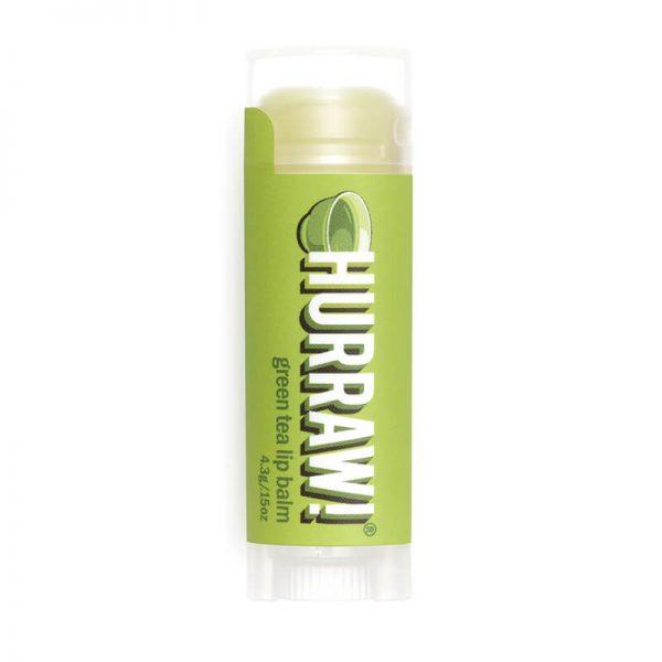 Balzam za ustnice, Zeleni čaj (4.3g). Hurraw! naravni balzami za ustnice.