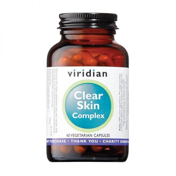 Čista koža kompleks. Kompleks za čisto kožo, 60 kapsul. Viridian Nutrition, naravni prehranski dodatki.