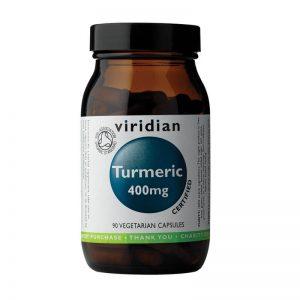 Ekološka Kurkuma 400 mg, 30 kapsul. Viridian Nutrition, naravni prehranski dodatki.