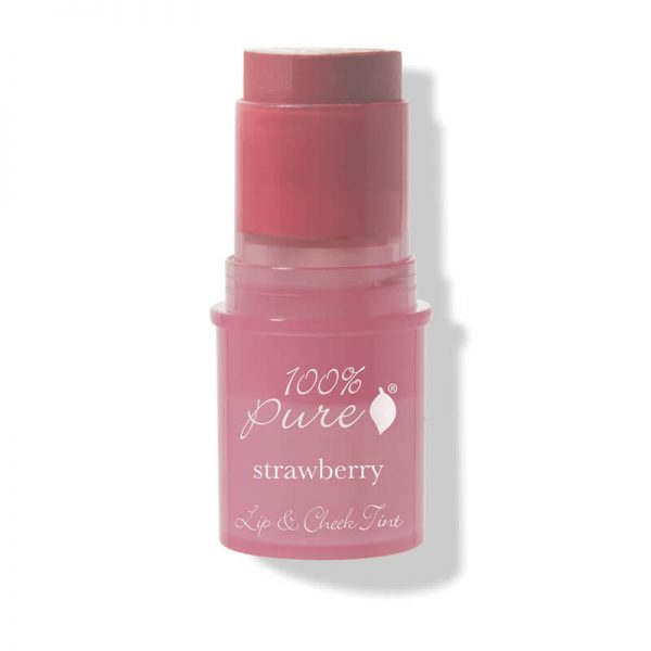 Kremna tinta za lica in ustnice z jagodami (7.5 g). 100% Pure, naravna kozmetika.