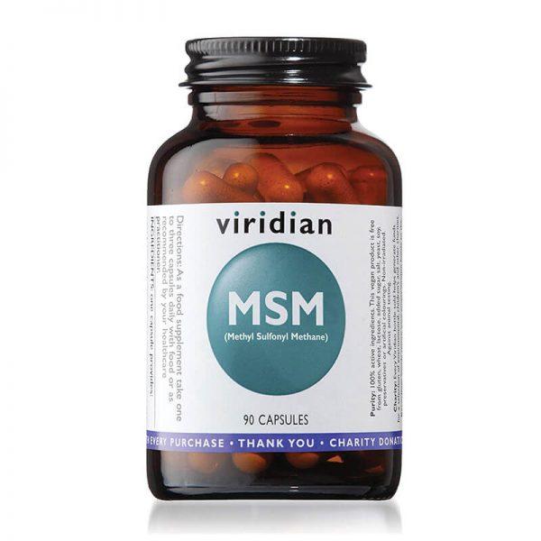 MSM, 90 kapsul. Naravna, organska oblika žvepla. Mineral lepote. Viridian Nutrition, naravni prehranski dodatki.