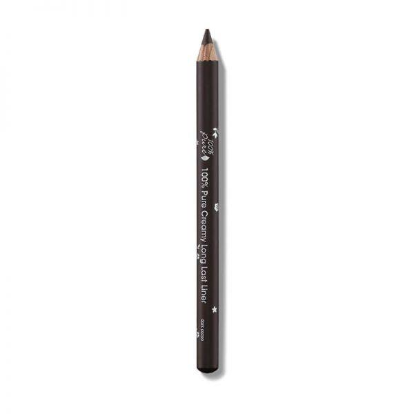 Svinčnik za oči, temno rjav odtenek. 100% Pure, naravna kozmetika.