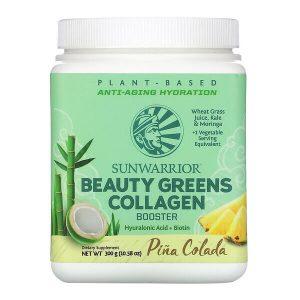 Sunwarrior Beauty greens kolagen booster z okusom pina-colade, 300gina colada, 500g
