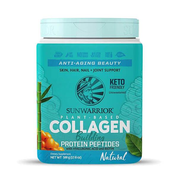 Sunwarrior rastlinski kolagen gradniki, naravni okus, 500g