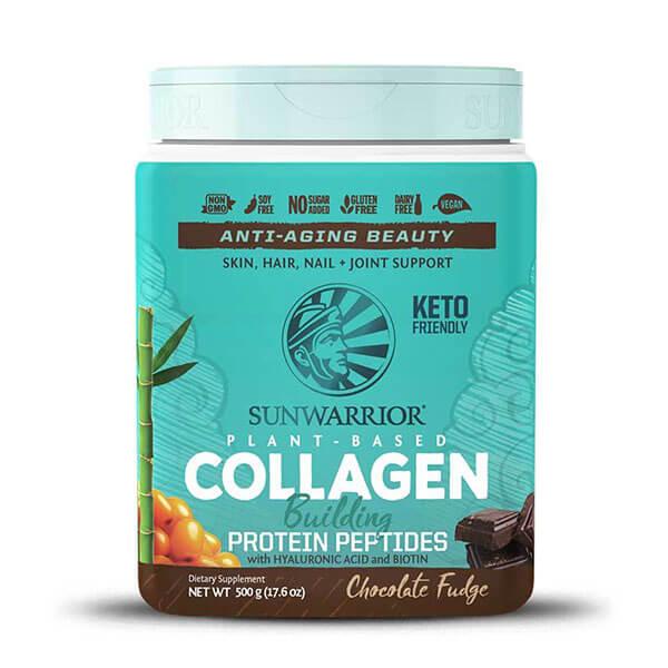 Sunwarrior rastlinski kolagen gradniki, okus čokolada, 500g