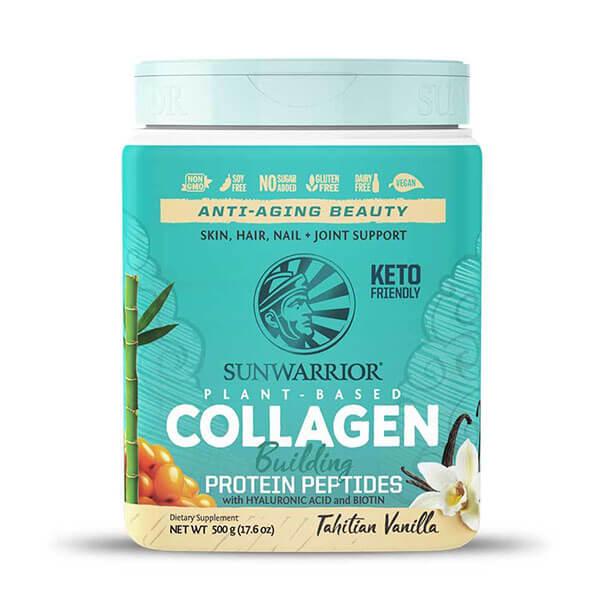 Sunwarrior rastlinski kolagen gradniki, okus tahitijska vanilija, 500g
