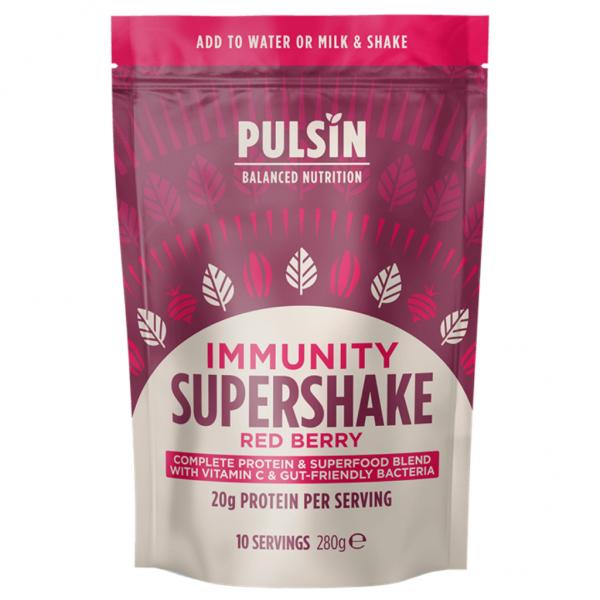 Pulsin super šejk, mešanica Immunity z jagodičevjem, 300g